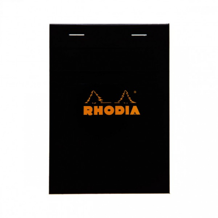 Blocnotes RHODIA No.13, Black A6, 80 file, patratele0
