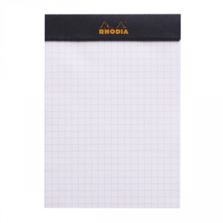 Blocnotes RHODIA No.13, Black A6, 80 file, patratele2
