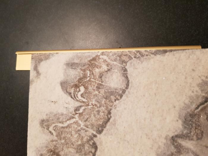 Profil metalic GOLD pentru finisare 2,5 ml 7