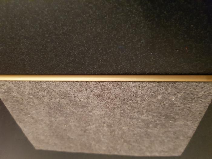 Profil metalic GOLD pentru finisare 2,5 ml 5