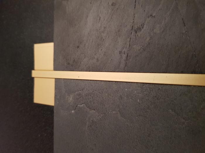 Profil metalic GOLD pentru delimitare 2,7 ml 4