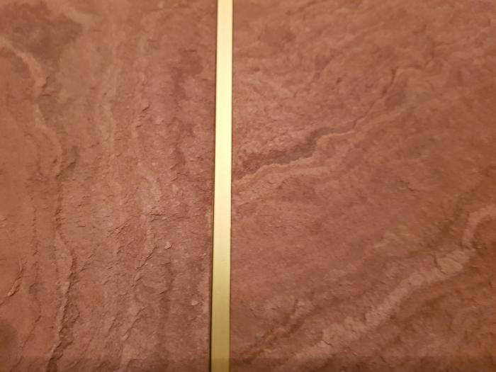 Profil metalic GOLD pentru delimitare 2,7 ml 3