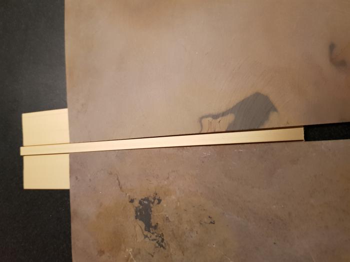 Profil metalic GOLD pentru delimitare 2,7 ml 2