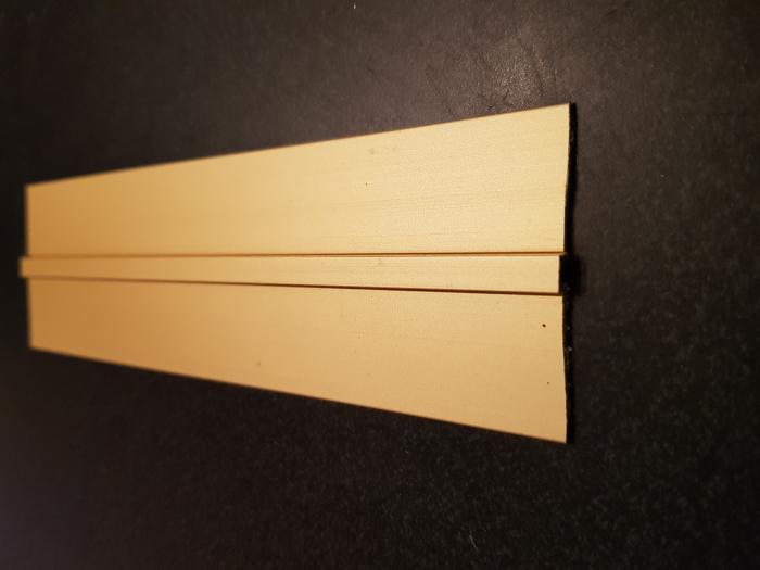 Profil metalic GOLD pentru delimitare 2,7 ml 5