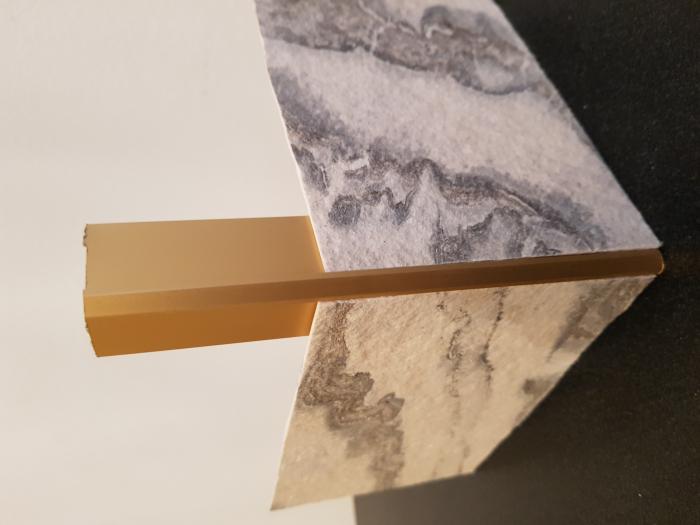 Profil metalic GOLD pentru colt exterior patrat 2,7 ml 6