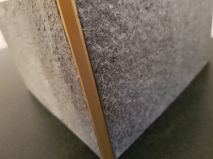 Profil metalic GOLD pentru colt exterior patrat 2,7 ml 7