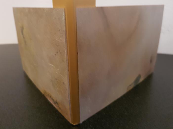 Profil metalic GOLD pentru colt exterior patrat 2,7 ml 3