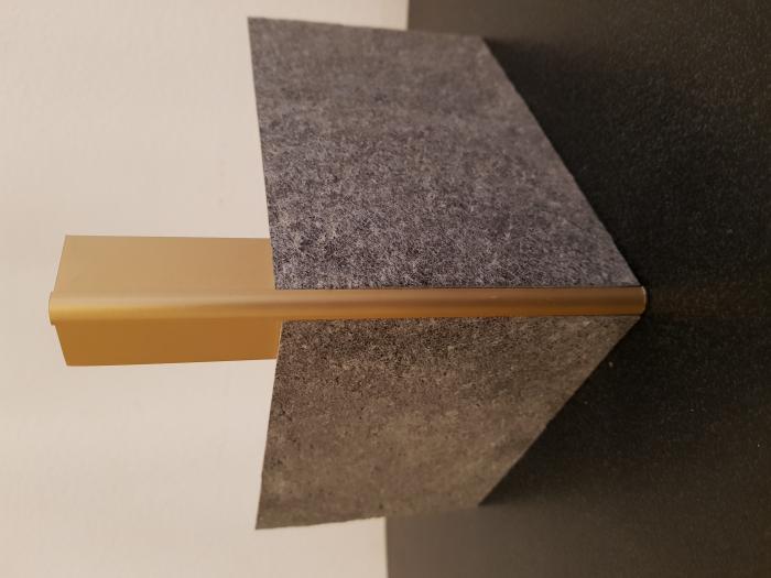 Profil metalic GOLD pentru colt exterior rotund 2,7 ml 4