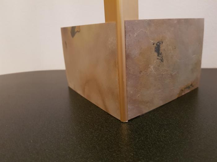 Profil metalic GOLD pentru colt exterior rotund 2,7 ml 6