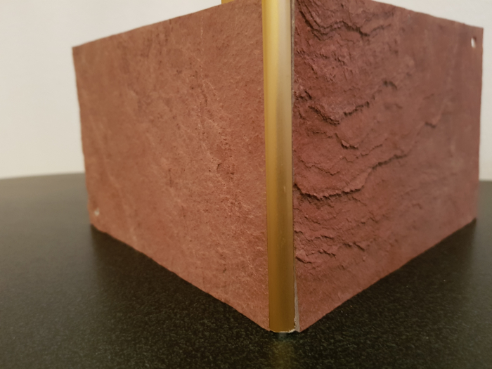 Profil metalic GOLD pentru colt exterior rotund 2,7 ml 2