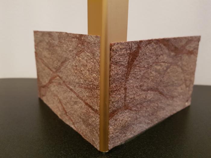 Profil metalic GOLD pentru colt exterior rotund 2,7 ml 7
