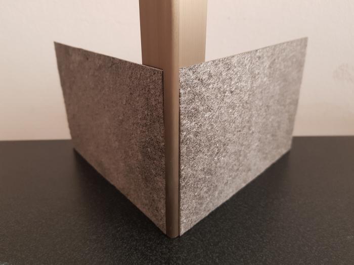 Profil metalic STEEL pentru colt exterior rotund 2,7 ml 3