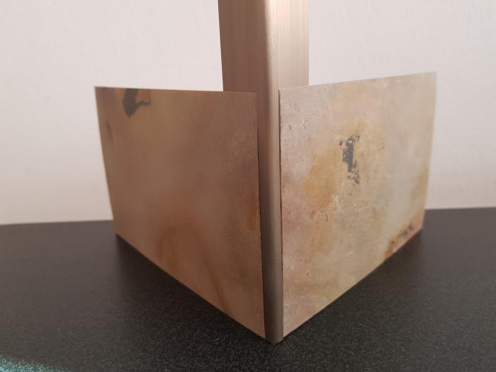 Profil metalic STEEL pentru colt exterior rotund 2,7 ml 8