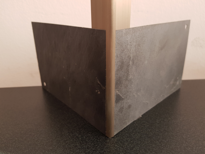 Profil metalic STEEL pentru colt exterior rotund 2,7 ml 5