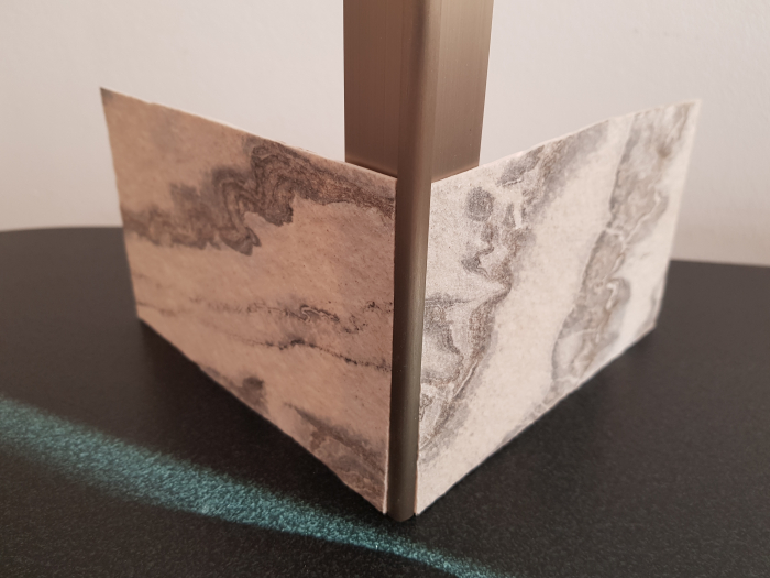Profil metalic STEEL pentru colt exterior rotund 2,7 ml 6