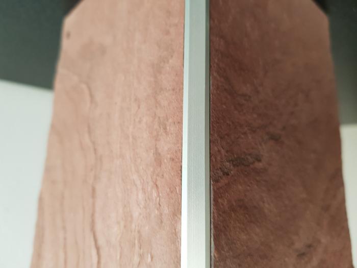 Profil metalic SILVER pentru colt exterior patrat 2,7 ml 4