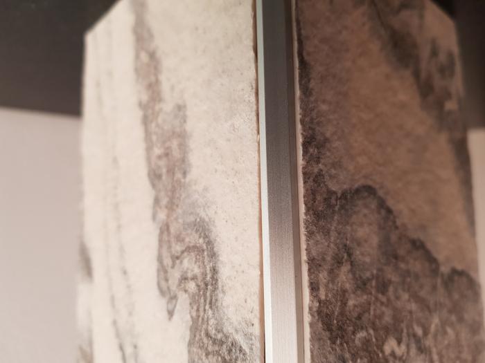 Profil metalic SILVER pentru colt exterior patrat 2,7 ml 3