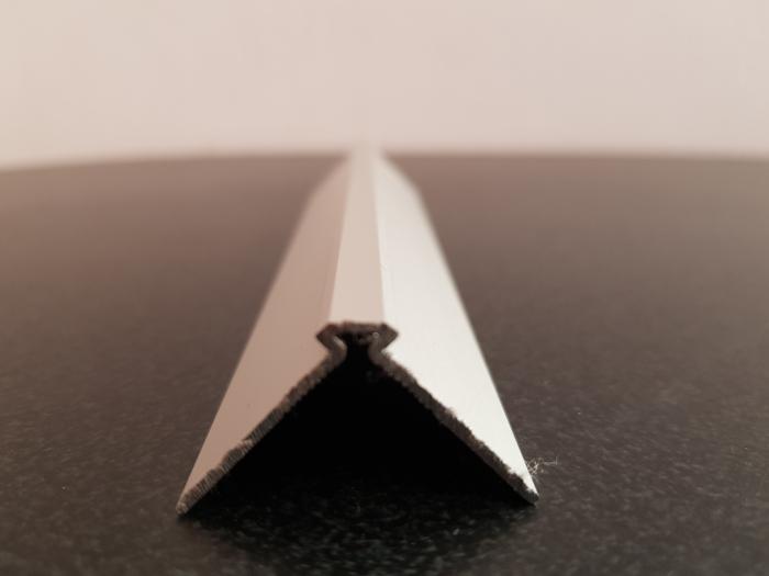 Profil metalic SILVER pentru colt exterior patrat 2,7 ml 2