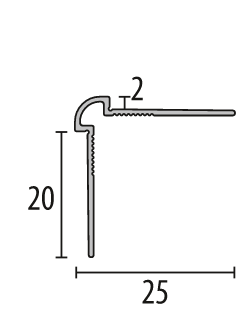 Profil metalic SILVER pentru colt exterior rotund 2,7 ml [1]
