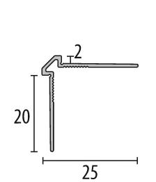 Profil metalic STEEL pentru colt exterior patrat 2,7 ml 1