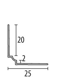 Profil STEEL colt interior 2,7 ml1