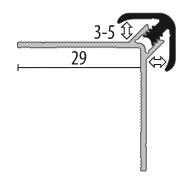 Profil metalic GOLD pentru colt exterior rotund 2,7 ml [1]