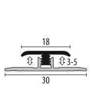 Profil metalic SILVER pentru delimitare 2,7 ml [1]