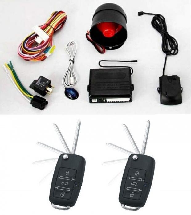 Alarma auto K119 cu 2 telecomenzi cu cheie briceag Tip VW [0]