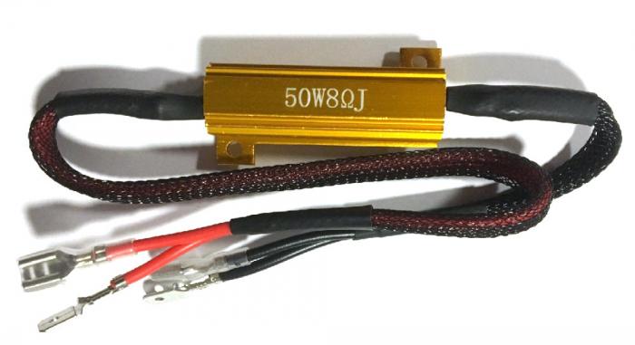 Anulator eroare Led H1 - Rezistor 50W 8 Ohm [1]