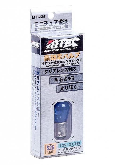 BEC AUTO MTEC P21W (S25/1157) CU DUBLA INTENSITATE - XENON EFFECT [0]