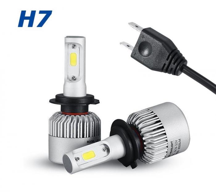 Set 2 leduri H7 4300k - Alb Cald Canbus pentru far auto, putere 72W, luminozitate 8000 Lm, 12V-24V [0]