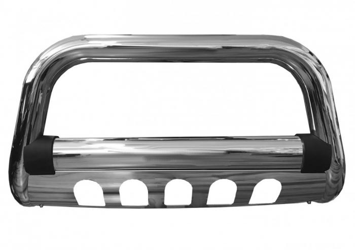 Bullbar inox cu scut Mitsubishi L200 Triton 2015, 2016, 2017, 2018, 2019 Ø76mm MTA646 [1]