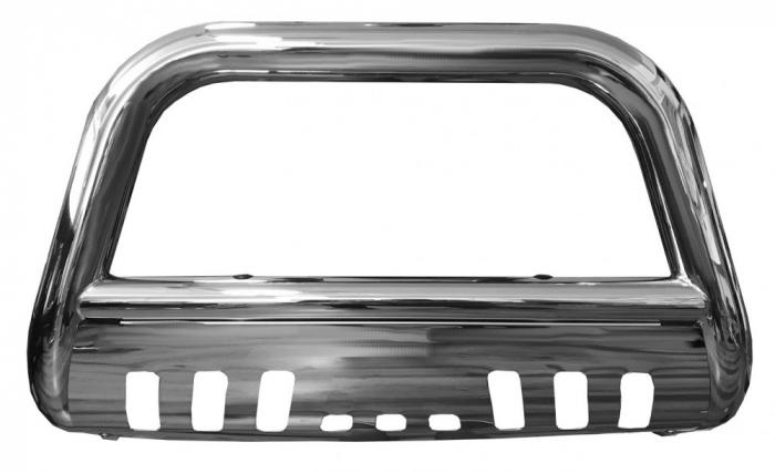 Bullbar inox cu scut Nissan Navara NP300 2015, 2016, 2017, 2018, 2019 Ø76mm NSA154 [1]