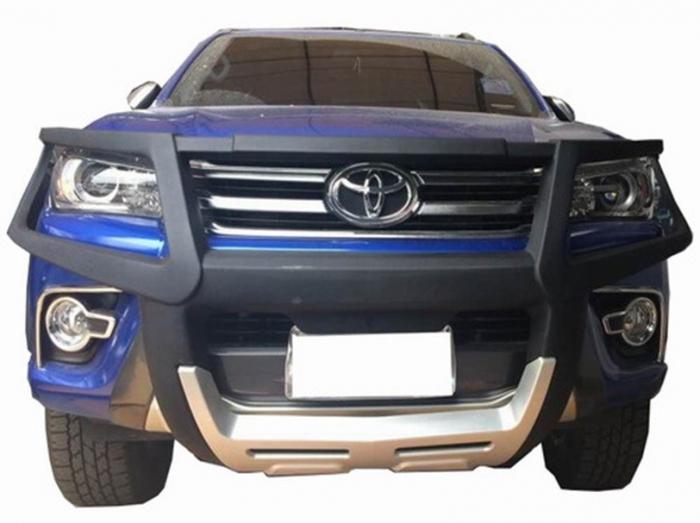 Bullbar poliuretan cu protectie faruri Toyota Hilux Vigo 2011, 2012, 2013, 2014, 2015 TYA406 [0]