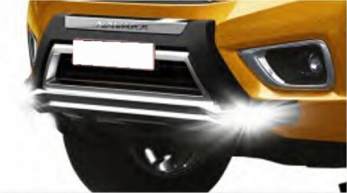 Bullbar poliuretan tip OEM cu DRL Nissan Navara NP300 2015, 2016, 2017, 2018, 2019 NSA168 [0]