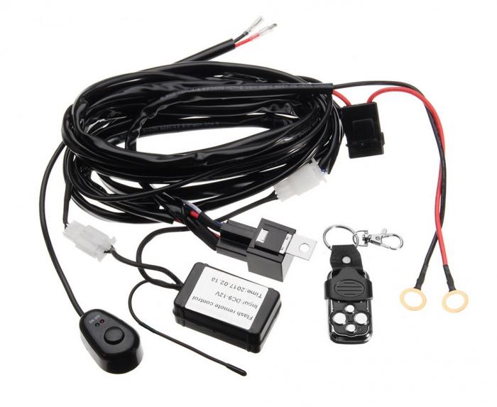 Cablaj wireless cu telecomanda pentru 1 proiector led/led bar pana la 288W [0]