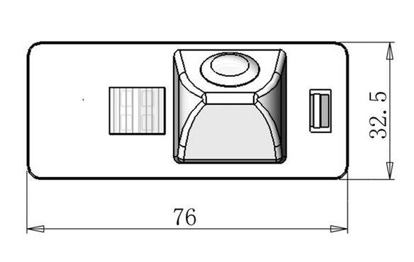 Camera marsarier Audi A1, A4, A5, A6, A7, Q5 - HKM0768 [3]