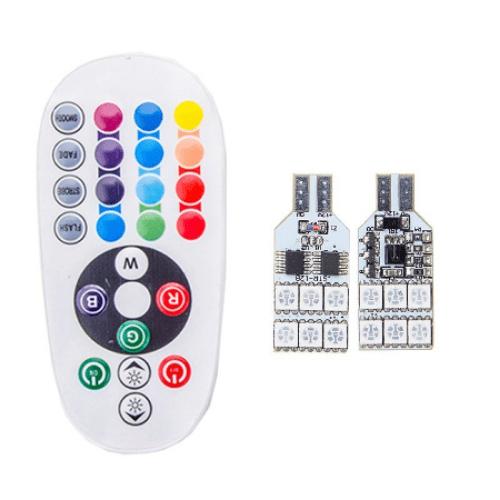 Bec pozitie RGB CU TELECOMANDA - T10 - 12 LED [0]