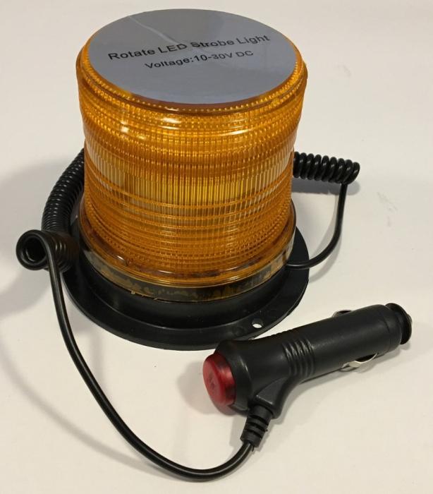 Girofar magnetic cu LED 12V - 24V Rotativ + Stroboscop JSM-127 [1]