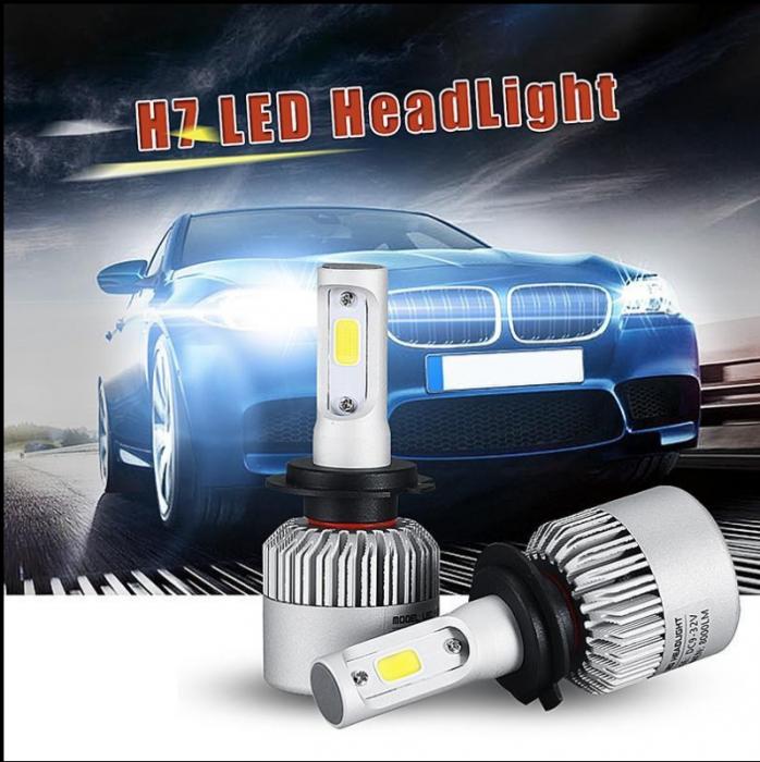 Set 2 leduri H7 4300k - Alb Cald Canbus pentru far auto, putere 72W, luminozitate 8000 Lm, 12V-24V [2]