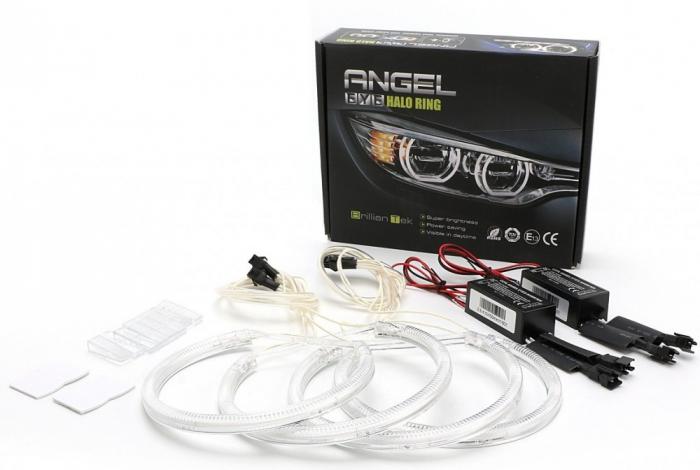 Kit Angel Eyes CCFL BMW X5 E53 fara facelift - 2*127.5mm+2*159mm [0]