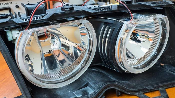 Kit Angel Eyes SMD DTM pentru BMW E46 2X131/2X146mm [4]
