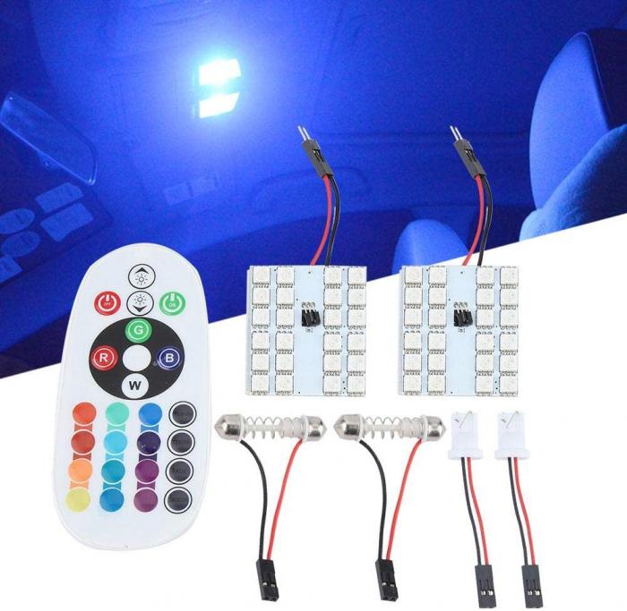 Lampa colorata cu telecomanda 24 LED [6]