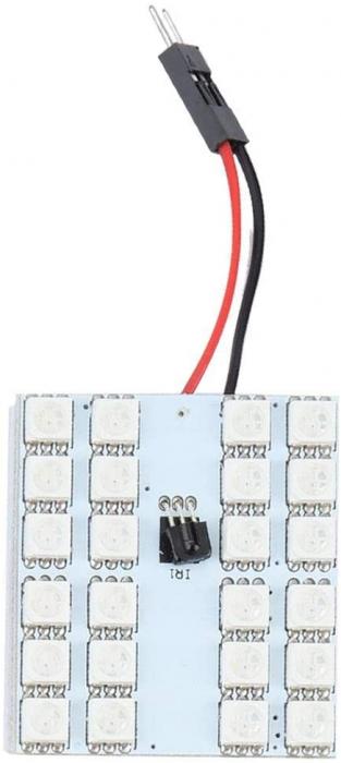 Lampa colorata cu telecomanda 24 LED [4]