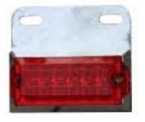 Lampa laterala cu LED 24V Rosie 148R24V [0]