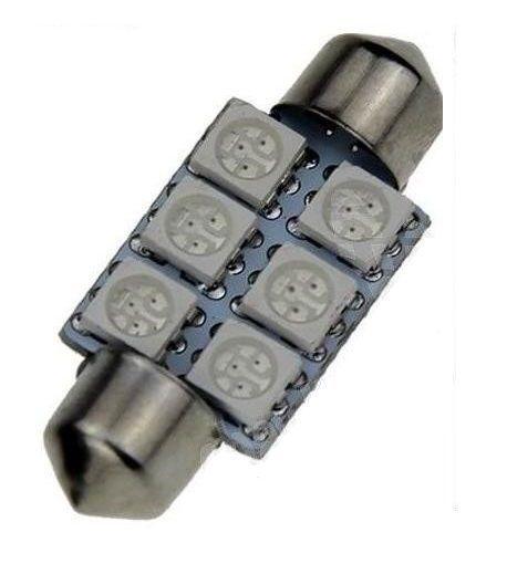 Led auto Rosu sofit cu 6 SMD 39 mm [1]