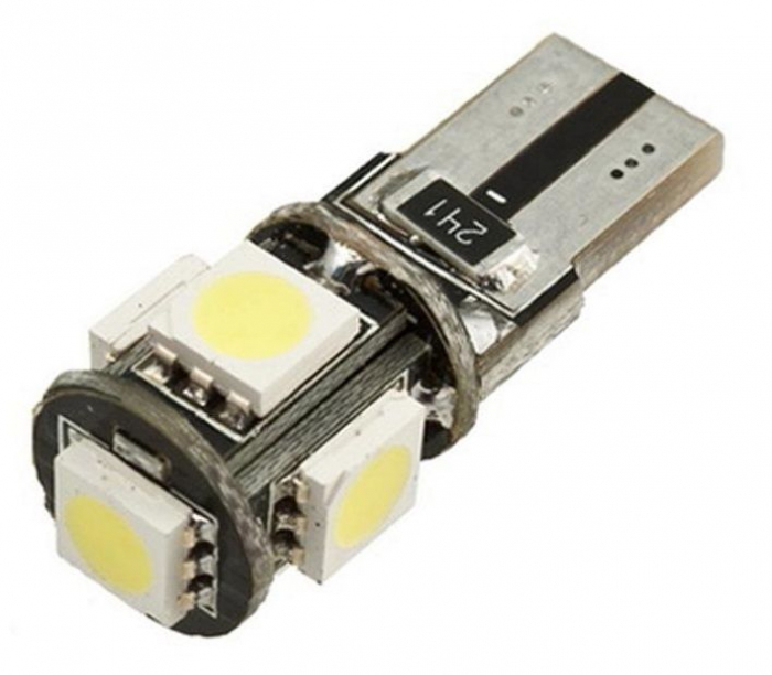 Led auto T10 Canbus cu 5 SMD [0]