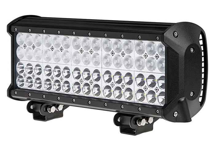 LED Bar Auto cu 2 faze (faza scurta/faza lunga) 180W/12V-24V, 15300 Lumeni, lungime 37 cm, Leduri CREE [0]