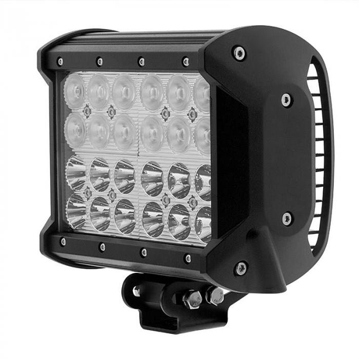 LED Bar Auto cu 2 faze (faza scurta/faza lunga) 72W/12V-24V, 6120 Lumeni, lungime 16,7 cm, Leduri CREE [0]