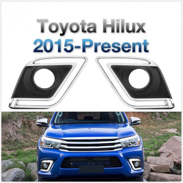 Lumini de zi dedicate Toyota Hilux Revo 2015, 2016, 2017, 2018, 2019 TYL809 [1]